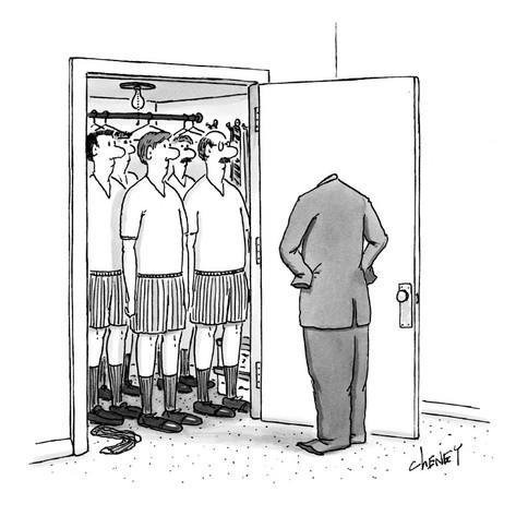 tom-cheney-empty-suit-opens-closet-full-of-men-in-underwear-new-yorker-cartoon