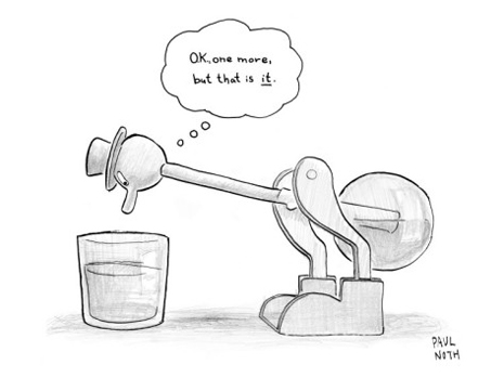 paul-noth-a-bobbing-duck-toy-is-dipping-its-beak-into-a-glass-of-water-new-yorker-cartoon
